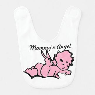 Der Engels-Baby-Schellfisch-Rosa der Mama Babylätzchen