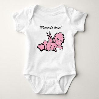 Der Engels-Bodysuit-Rosa der Mama Baby Strampler