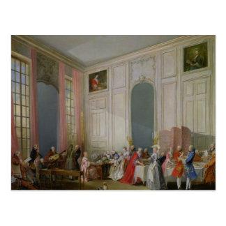 Der englische Tee und ein Gesellschafts-Konzert Postkarte