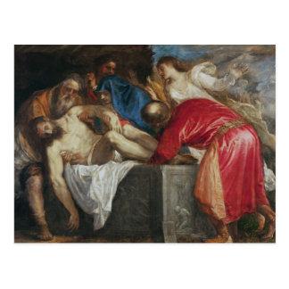 Der Entombment von Christus, 1559 Postkarte