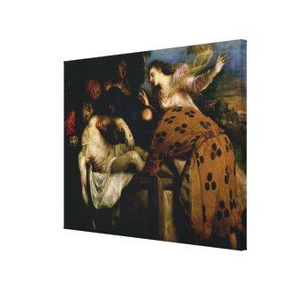 Der Entombment von Christus Galerie Falt Leinwand