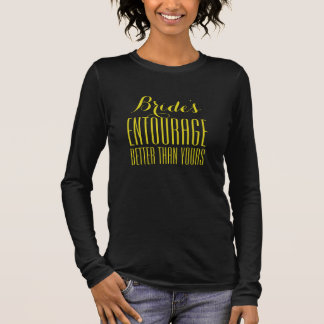 Der Entourage-Schwarz-langes Hülsen-Shirt der Langarm T-Shirt