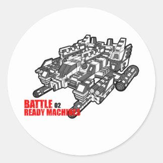 Der Entwurf der Kampf-bereite Maschinen an zweiter Runder Aufkleber