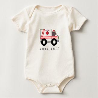 Der Entwurf der moderne Krankenwagen-Kinder Baby Strampler