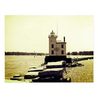 Der Eriesee-Leuchtturm Postkarte