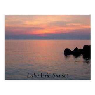 Der Eriesee-Sonnenuntergang Postkarte