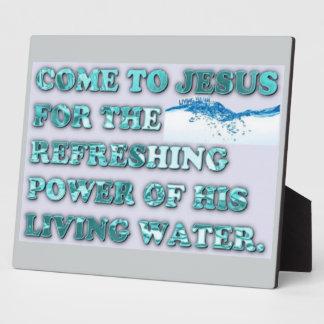 Der erneuernPower von Jesuss lebendem Wasser Fotoplatte