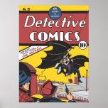 Der erste Auftritt des Batmans Vintag Plakatdruck