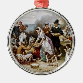 Der erste Erntedank Silbernes Ornament