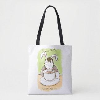 Der erste Kaffee des schläfrigen Kaninchens! Tasche