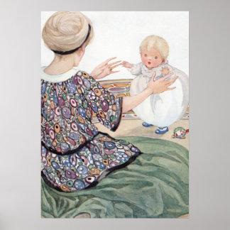 Der erste Schritt des Babys durch Anne Anderson Poster
