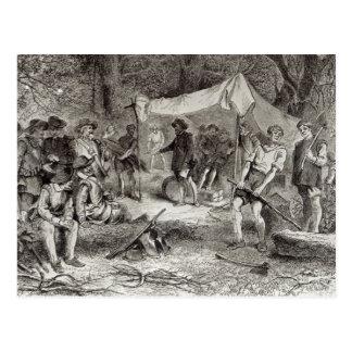 Der erste Tag bei Jamestown Postkarte
