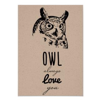 Der Eule Liebe immer Sie - Valentines-Karte 12,7 X 17,8 Cm Einladungskarte
