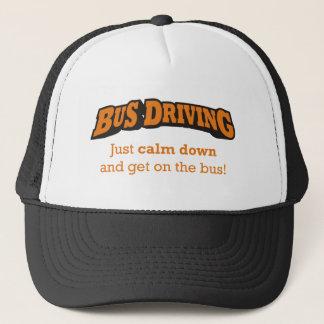 Der fahrende Bus/beruhigen unten Truckerkappe