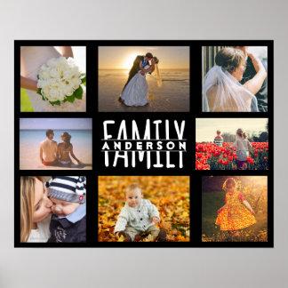 Der Familien-8 Schablone | Foto-der Collagen-DIY Poster