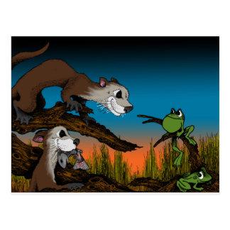 Der Fehler des Frosches Postkarte