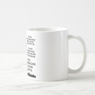 Der Feigling, das schwache und Kriegers-Militär Kaffeetasse