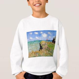 Der Felsen von Pourville von Claude Monet Sweatshirt
