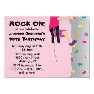 Der Felsen-Wand-kletterndes Geburtstags-Party des 11,4 X 15,9 Cm Einladungskarte