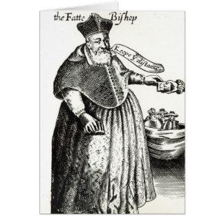 Der fette Bischof Grußkarte