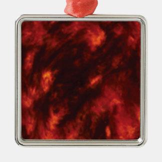 der Feuerabgrund Quadratisches Silberfarbenes Ornament