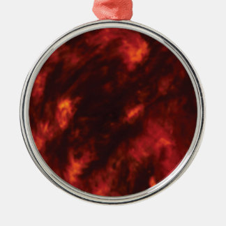 der Feuerabgrund Rundes Silberfarbenes Ornament