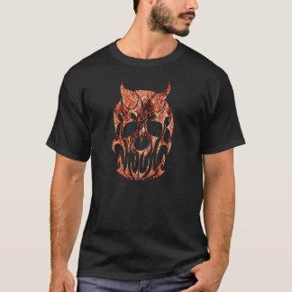 der Feuerschädelschwarz-T - Shirt