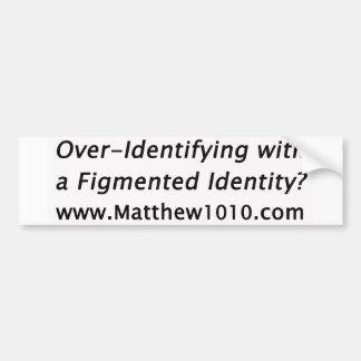 Der Figmented Identitäts-Autoaufkleber Autoaufkleber