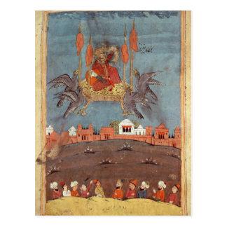 Der Fliegen-Teppich Postkarte