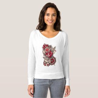 Der Flowy der Frauen weg vom Schulter-Shirt T-shirt