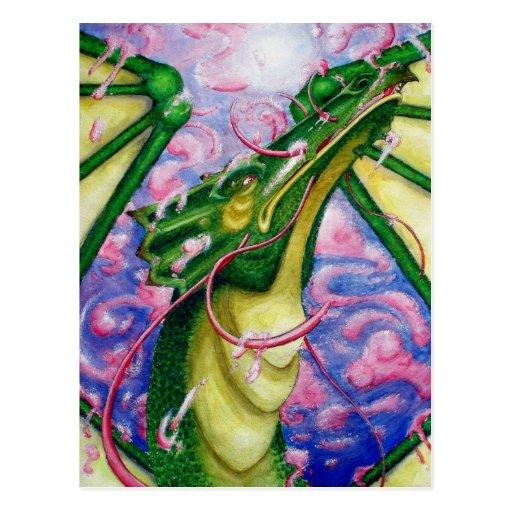Der Flug-Postkarte des Drachen