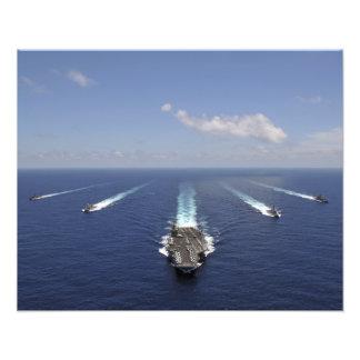 Der Flugzeugträger USS Abraham Lincoln 2 Fotografischer Druck