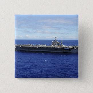 Der Flugzeugträger USS Abraham Lincoln 2 Quadratischer Button 5,1 Cm