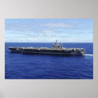 Der Flugzeugträger USS Abraham Lincoln Poster