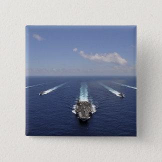 Der Flugzeugträger USS Abraham Lincoln Quadratischer Button 5,1 Cm