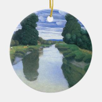 Der Fluss bei Berville durch Felix Vallotton Keramik Ornament