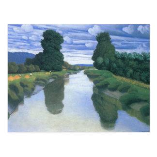 Der Fluss bei Berville durch Felix Vallotton Postkarte