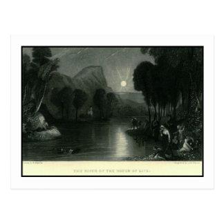 Der Fluss des Wassers des Lebens Vintag Postkarte