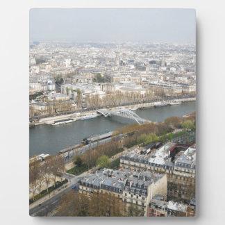 Der Fluss die Seine in Paris, Frankreich Fotoplatte