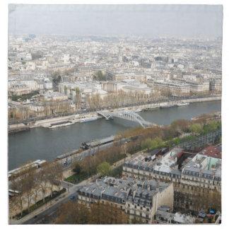 Der Fluss die Seine in Paris, Frankreich Stoffserviette