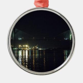 Der Fluss-Weg der Savanne Silbernes Ornament