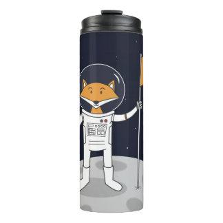 Der Fox auf der Mond-Thermaltrommel Thermosbecher