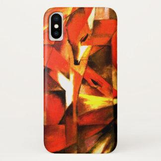 Der Fox durch Franz Marc-schöne Kunst iPhone X Hülle