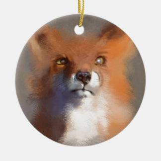 Der Fox Keramik Ornament