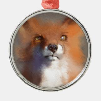 Der Fox Silbernes Ornament