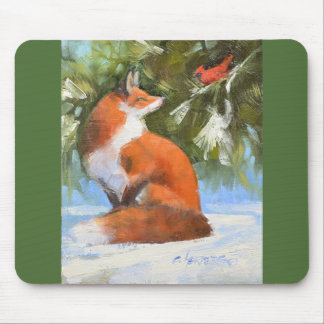 Der Fox und der Kardinal Mousepad