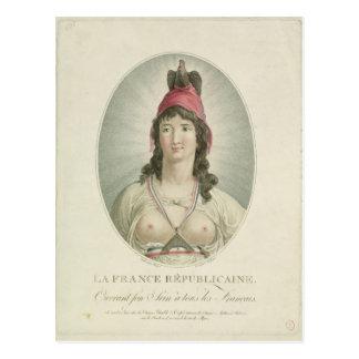 Der französische Republikaner, graviert von A. Postkarte