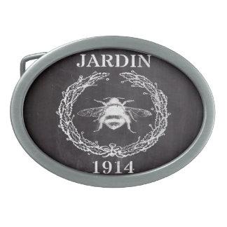der französischen Vintage Königinbiene Landtafel Ovale Gürtelschnallen