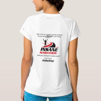 Der Frauen trocknen geeigneter V-Hals laufendes T-Shirt