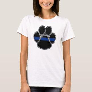 Der Frauen verdünnen blaue Linie T - Shirt